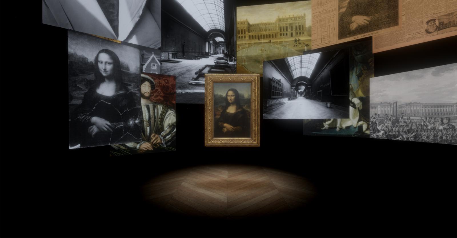 蒙娜麗莎:越界視野VR 羅浮宮提供